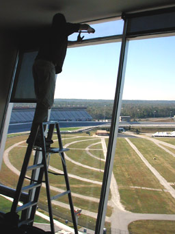 atlanta motor speedway motorized shade installation